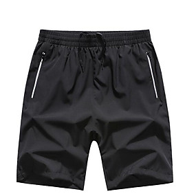 preiswerte 2019 Shorts-Herrn Grundlegend Übergrössen Alltag Kurze Hosen Hose - Solide Schwarz & Weiß Schwarz XXXXXL XXXXXXL 8XL