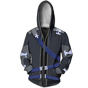 cheap Casual Wear-Inspired by SAO Swords Art Online Kirito Hoodie Terylene Cartoon Stylish For Unisex