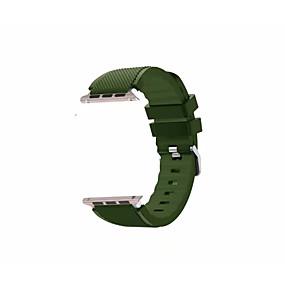 preiswerte Smart Watch Band-Silica Gel Uhrenarmband Gurt für Apple Watch Series 4/3/2/1 Schwarz / Weiß / Blau 23cm / 9 Zoll 2.1cm / 0.83 Inch