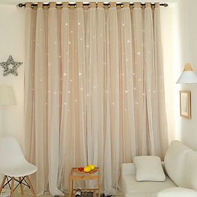 cheap Curtains & Drapes-Modern Curtains Drapes Two Panels Curtain / Blackout / Bedroom