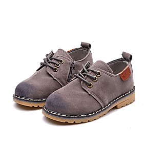 cheap Kids' Oxfords-Boys' Comfort Faux Leather Oxfords Toddler(9m-4ys) / Little Kids(4-7ys) Gray / Brown / Wine Summer