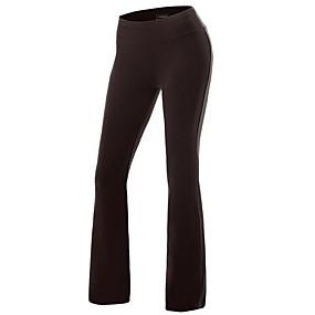 cheap Exercise, Fitness & Yoga-Women's Yoga Pants Flare Leg Pants / Trousers Butt Lift White Black Fuchsia Spandex Cotton Zumba Running Dance Sports Activewear Stretchy Slim
