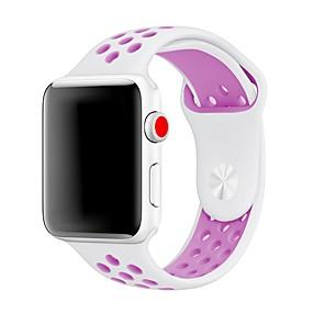 preiswerte Smart Watch Band-Silica Gel Uhrenarmband Gurt für Apple Watch Series 4/3/2/1 Schwarz 23cm / 9 Zoll 2.1cm / 0.83 Inch