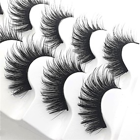 cheap Makeup and Beauty-Eyelash Extensions 10 pcs Thick Multi-tool Pro Natural Curly Fiber Practise Daily Wear Full Strip Lashes Thick - Makeup Daily Makeup Glamorous & Dramatic High Quality Cosmetic Grooming Supplies
