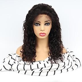 ราคาถูก Curly Lace Wigs-ไม่ได้เปลี่ยนแปลง มีลูกไม้ด้านหน้า วิก ตอนกลาง สไตล์ ผมบราซิล ความหงิก ดำ วิก 130% Hair Density ผมเด็ก ผู้หญิง การแต่งกายที่ง่าย เส้นผมธรรมชาติ อุ่นหนาฝาคั่ง สำหรับผู้หญิง ยาว วิกผมแท้ Factory OEM