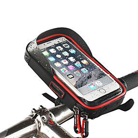 preiswerte Fahrradlenkertaschen-Wheel up Handy-Tasche Fahrradlenkertasche Touchscreen Wasserdicht Headset-Bohrung Fahrradtasche TPU Schwamm Nylon Tasche für das Rad Fahrradtasche iPhone X / iPhone XR / iPhone XS Geländerad