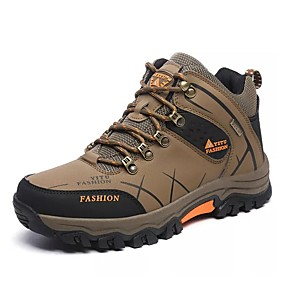 cheap Under €39-Men's Hiking Shoes Hiking Boots Thermal / Warm Waterproof Shock Absorption Non-Skid High-Top Non-slip Steel Buckle Outsole Pattern Design Hiking Climbing Mountaineering Autumn / Fall Winter Black