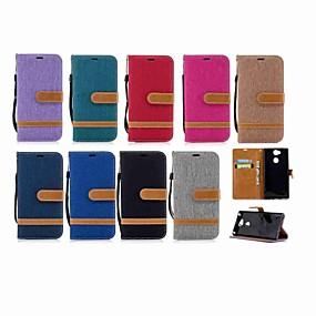 povoljno Maske za mobitele-Θήκη Za Sony Xperia XZ1 Compact / Sony Xperia XZ1 / Sony Xperia XZ Premium Novčanik / Utor za kartice / sa stalkom Korice Jednobojni Tvrdo Tekstil