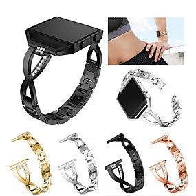 cheap Smartwatch Bands-Watch Band for Fitbit Blaze Fitbit Sport Band / Jewelry Design Stainless Steel / Ceramic Wrist Strap