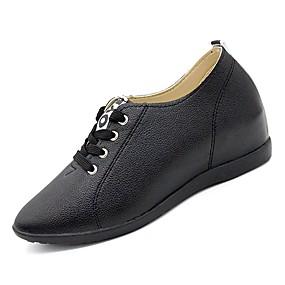voordelige Dames Oxfords-Dames Oxfords Comfort schoenen Platte hak Ronde Teen PU Herfst Wit / Zwart / Dagelijks