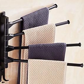 povoljno Uređaji za kupanje-držač za ručnike ručnik za brisače, zidni stalak za ručnike za držač kupaonice s rukama, mat crni