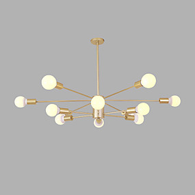 cheap Chandeliers-12 Bulbs 96 cm Creative Chandelier Metal Sputnik Gold / Painted Finishes Artistic / Modern 110-120V / 220-240V