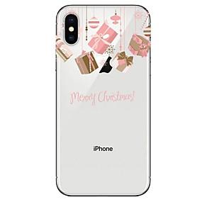 preiswerte Weihnachtsfälle-Hülle Für Apple iPhone XS / iPhone XR / iPhone XS Max Ultra dünn / Transparent / Muster Rückseite Weihnachten Weich TPU
