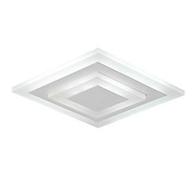 povoljno Stropna svjetla i ventilatori-Flush Mount Ambient Light Slikano završi Metal Acrylic Mini Style 85-265V Meleg fehér / Bijela Uključen je LED izvor svjetlosti / Integrirano LED svjetlo