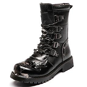 voordelige Wijdere maten schoenen-Heren Fashion Boots Synthetisch Winter Vintage / Informeel Laarzen Houd Warm Knielaarzen Zwart / Toimisto & ura / Legerlaarzen