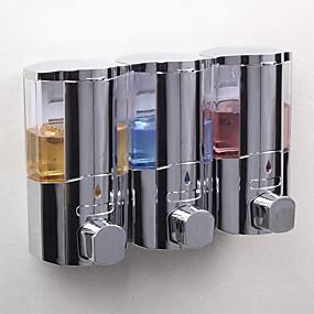cheap Soap Dispensers-Soap Dispenser Premium Design Shampoo Conditioner Body Gel Dispenser Plastic + PCB + Water Resistant Epoxy Cover 1pc Wall Mounted