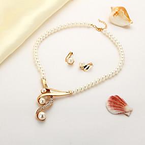 povoljno Nakit za vjenčanje i izlaske-Žene Izjava Ogrlice Naušnica Klasičan Korejski Naušnice Jewelry Zlato Za Dar Festival 1set