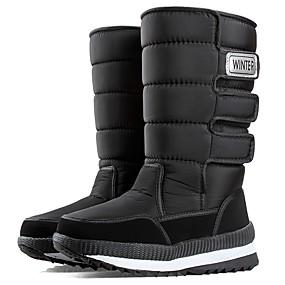 levne Větší obuv-Pánské Fashion Boots Plátno / Syntetický Zima Vintage / Na běžné nošení Boty Zahřívací Ke kolenům Černá / Zelená / Modrá / Venkovní