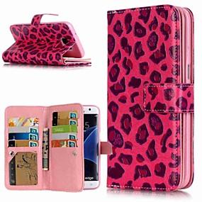 povoljno Maske za mobitele-Θήκη Za Samsung Galaxy S9 / S9 Plus / S8 Plus Novčanik / Utor za kartice / sa stalkom Korice Uzorak leoparda Tvrdo PU koža