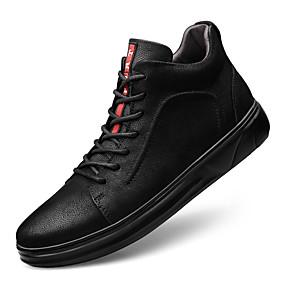 levne Větší obuv-Pánské Kožené boty Nappa Leather Podzim sportovní / Na běžné nošení Tenisky Zahřívací Černá / Komfortní boty