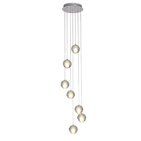 preiswerte 50% OFF-UMEI™ 7-Licht Cluster Pendelleuchten Raumbeleuchtung Chrom Metall Kristall, LED 90-240V Wärm Weiß Inklusive Glühbirne / G4