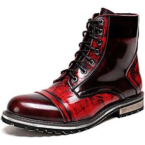 preiswerte Partysammlungen-Herrn Fashion Boots Nappaleder Winter / Herbst Winter Freizeit / Britisch Stiefel Rutschfest Booties / Stiefeletten Wein / Party & Festivität