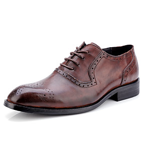 preiswerte Up to 70% off for men's shoes-Herrn Formal Schuhe Nappaleder Herbst Geschäftlich / Britisch Outdoor Rutschfest Schwarz / Braun / Wein / Lederschuhe