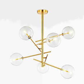 povoljno Lámpatestek-QINGMING® 6-Light Mini Lusteri Ambient Light Electroplated Metal Glass Mini Style 110-120V / 220-240V Meleg fehér / Hladno bijela / G4 / VDE