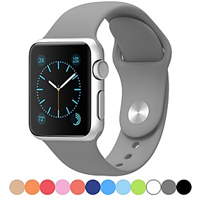 cheap Phones & Accessories-Watch Band for Apple Watch Series 5/4/3/2/1 Apple Sport Band Silicone Wrist Strap
