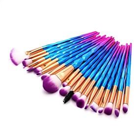 baratos Maquiagem & Beleza-20pcs Pincéis de maquiagem Profissional Pincel para Blush / Pincel para Sombra / Pincel para Lábios Fibra de Nailom Cobertura Total