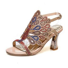 preiswerte Sandalen mit Keilabsatz-Damen Sandalen Stöckelabsatz Kunststoff Sommer Mandelfarben / Grün / Blau