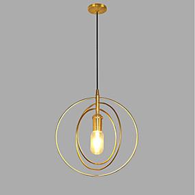 povoljno Viseća rasvjeta-Cirkularno Privjesak Svjetla Ambient Light Golden Metal AC100-240V Bulb not included / SAA