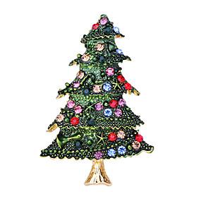povoljno Nakit za vjenčanje i izlaske-Žene Kubični Zirconia Broševi Klasičan Kostimi Djeda Mraza Božićno drvce Klasik Crtići Slatka Style Broš Jewelry Zelen Za Božić Dnevno