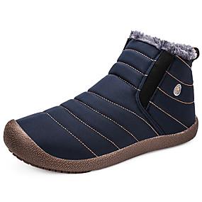 levne Větší obuv-Dámské Boty Sněhule Rovná podrážka Plátno / Syntetický Do půli lýtek sportovní / Na běžné nošení Zima Černá / Modrá / Khaki / Fashion Boots