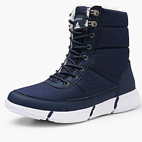 levne Větší obuv-Pánské Sněhule Plátno / Syntetický Zima sportovní / Na běžné nošení Boty Zahřívací Do půli lýtek Černá / Modrá / Venkovní / Fashion Boots