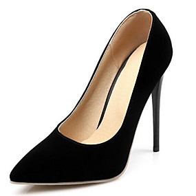 Недорогие Лодочки-Жен. Обувь на каблуках На шпильке Лакированная кожа Весна Черный / Миндальный / Белый / Повседневные