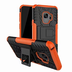 cheap Phones & Accessories-Case For Samsung Galaxy S9 with Stand Back Cover Armor Hard PC