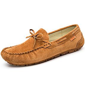 levne Větší obuv-Pánské Mokasíny Kůže Podzim Klasické / Na běžné nošení Mokasíny Zahřívací Černá / Žlutá / Modrá