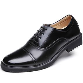 levne Větší obuv-Pánské Kožené boty Kůže Podzim Vintage / Na běžné nošení Oxfordské Masáž Černá / Venkovní / Komfortní boty