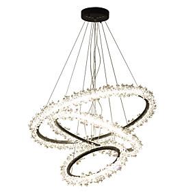 preiswerte Modern Beleuchtung-OBSESS® 3-Licht Kreisförmig Kronleuchter Raumbeleuchtung Lackierte Oberflächen Metall Kristall, Verstellbar AC110-240V Warmes Weiß + Weiß