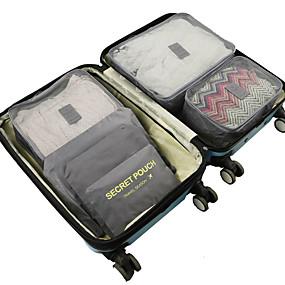 cheap Travel-6 sets Travel Bag / Travel Organizer /  Packing Organizer Large Capacity / Waterproof / Ultra Light (UL) Non-woven Fabrics Travel drawstring with window travel shoe storage bags