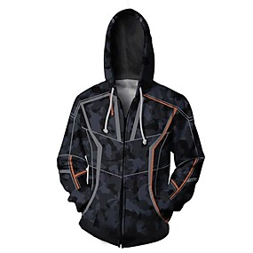 cheap Athleisure Wear-Inspired by K Super Heroes Anime Hoodies & Sweatshirts Polyster Anime Printing For Men's