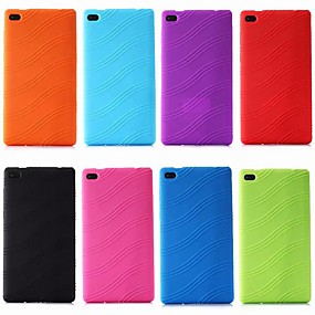 cheap Tablet Accessories-Case For Lenovo Lenovo Tab 7 Essential / Lenovo Tab 4 7 Essential Shockproof / Ultra-thin Back Cover Solid Colored Soft Silica Gel