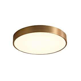 cheap Ceiling Lights & Fans-1-Light 30 cm Tri-color Flush Mount Lights Metal Circle Antique Brass Contemporary / LED 220-240V