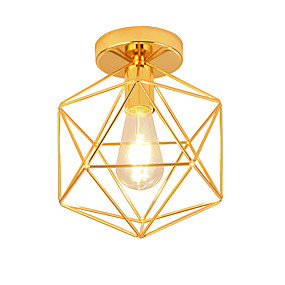 povoljno Lámpatestek-OYLYW Geometrijski Flush Svjetla Ambient Light Electroplated Metal Mini Style, New Design 110-120V / 220-240V