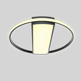 cheap Ceiling Lights & Fans-51 cm 2-Light Circular / Novelty Flush Mount Ambient Light Painted Finishes Metal Matte, Eye Protection, Cute 110-120V / 220-240V Warm White / Cold White / Dimmable With Remote Control LED Light Sourc