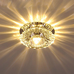cheap Dimmable Ceiling Lights-1-Light 10 cm Crystal Flush Mount Lights Crystal Crystal Electroplated LED AC110-240V / FCC