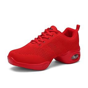 preiswerte Tanzschuhe Klassische Kollektion-Damen Tanzschuhe Gitter Tanz-Turnschuh Sneaker Flacher Absatz Maßfertigung Rot / Leistung / Praxis