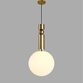 povoljno Viseća rasvjeta-Cirkularno Privjesak Svjetla Ambient Light Golden Metal Glass AC100-240V Bulb not included / SAA