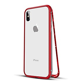 cheap Phones & Accessories-Case For Apple iPhone XS / iPhone XR / iPhone XS Max Shockproof / Magnetic Full Body Cases Solid Colored Hard Metal